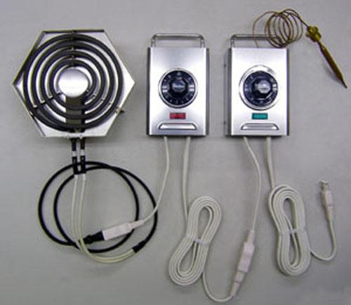 電熱器とヒーターコントローラーの接続