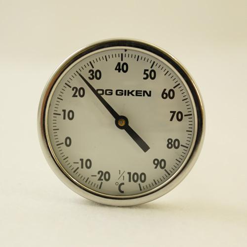 ダイヤル温度計(中心タイプ)正面